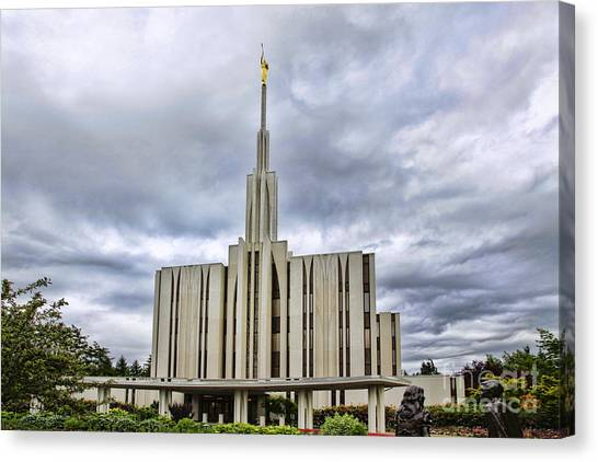 Seattle Temple Canvas Print