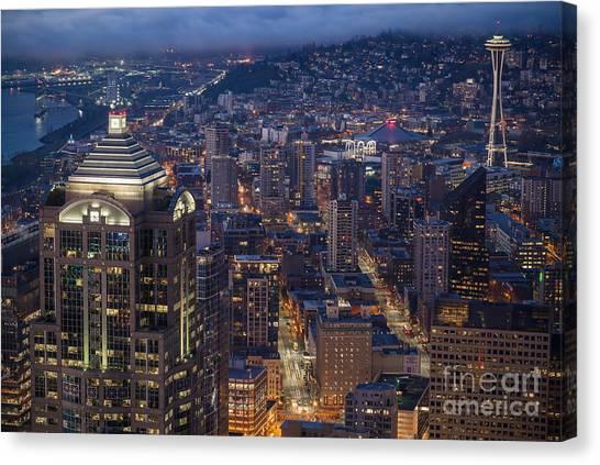 Seattle Skyline Canvas Print - Seattle Urban Details by Mike Reid