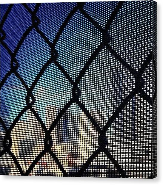 Seattle Skyline Canvas Print - #seattle #wa #skyline #city #fence #pnw by Bryan ONeill