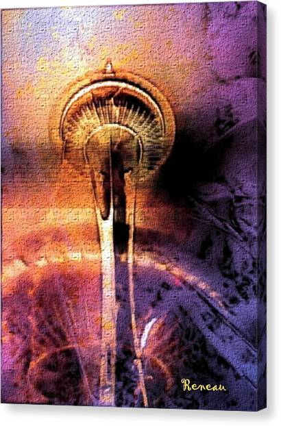 Seattle Wa Space Needle Canvas Print