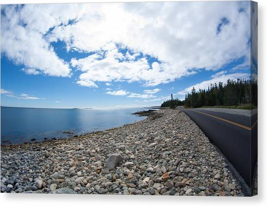 Seawall - Acadia Canvas Print