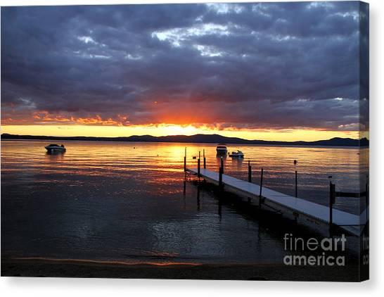 Sebago Lake Sunset Canvas Print
