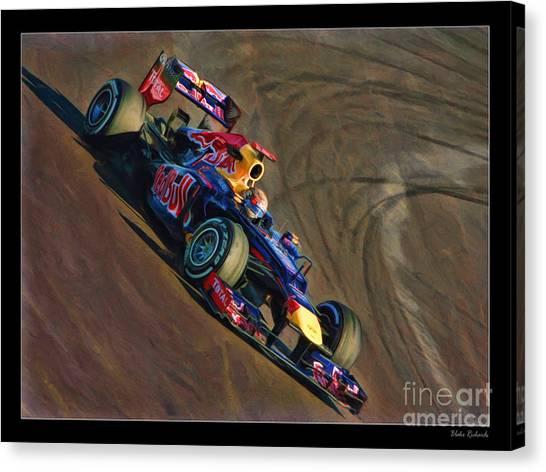 Sebastian Vettel - Red Bull Canvas Print