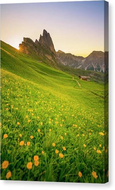 Seceda, Italy Canvas Print by Chalermkiat Seedokmai