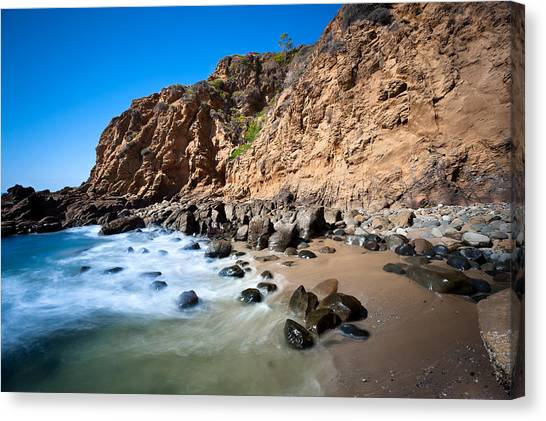 Secluded Beach Cove Canvas Print