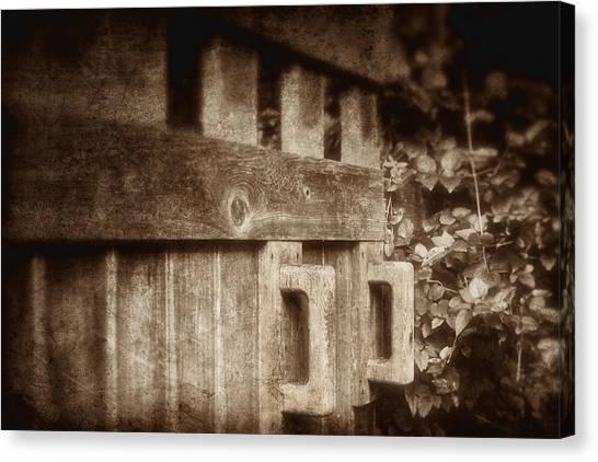 Swing Canvas Print - Secluded Garden by Tom Mc Nemar