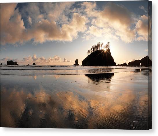 Olympic National Park Canvas Print - Second Beach by Leland D Howard