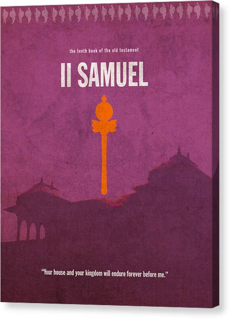 David Canvas Print - Second Samuel Books Of The Bible Series Old Testament Minimal Poster Art Number 10 by Design Turnpike