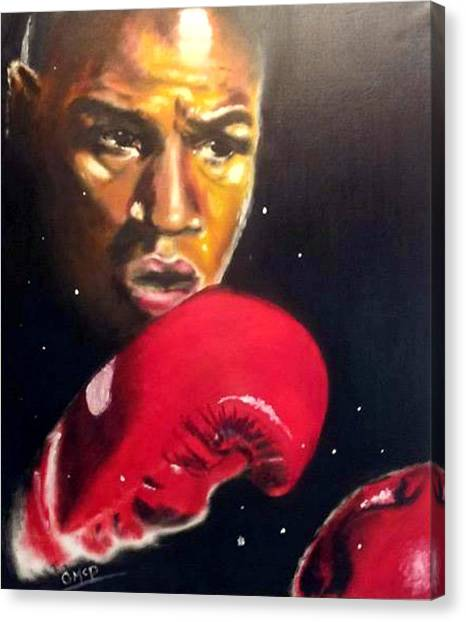 Floyd Mayweather Canvas Print - Seconds Out by Oliver McParland