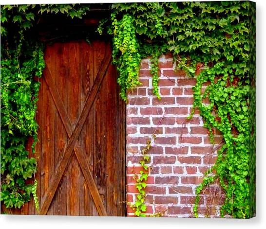 Canvas Print featuring the photograph Secret Door by Jeff Lowe