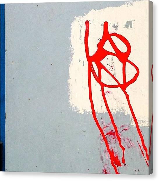 Graffiti Canvas Print - Secret Message by Julie Gebhardt
