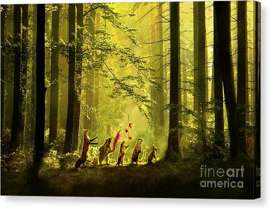 Aimee Stewart Canvas Print - Secret Parade by Aimee Stewart