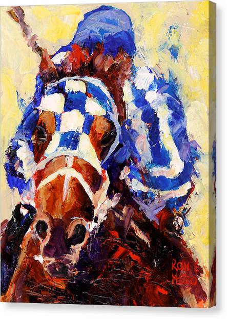Kentucky Canvas Print - Secretariat by Ron and Metro