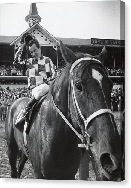 Sprint Canvas Print - Secretariat Vintage Horse Racing #04 by Retro Images Archive
