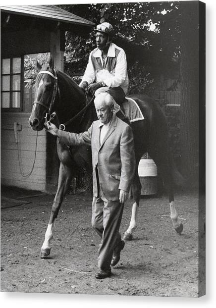 Secretariat Canvas Print - Secretariat Vintage Horse Racing #05 by Retro Images Archive