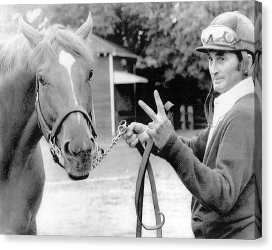 Secretariat Canvas Print - Secretariat Vintage Horse Racing #15 by Retro Images Archive