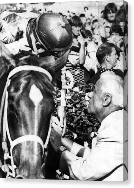 Secretariat Canvas Print - Secretariat Vintage Horse Racing #19 by Retro Images Archive