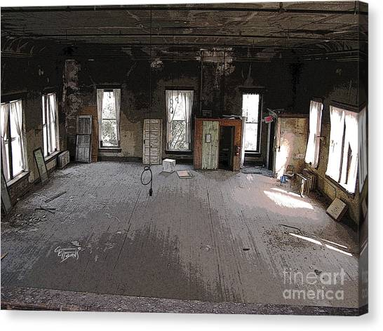 Eastern Kentucky University Canvas Print - Secrets Lie In The Dust Of The Forgotten Ballroom by GG Burns