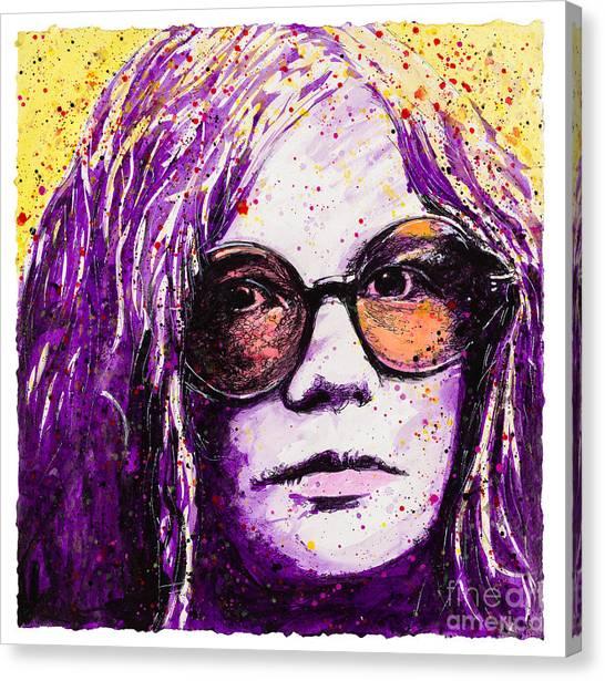 Janis Joplin Canvas Print - Secrets Of My Soul by Chris Mackie