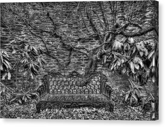 Secrets Of The Garden Bw Canvas Print