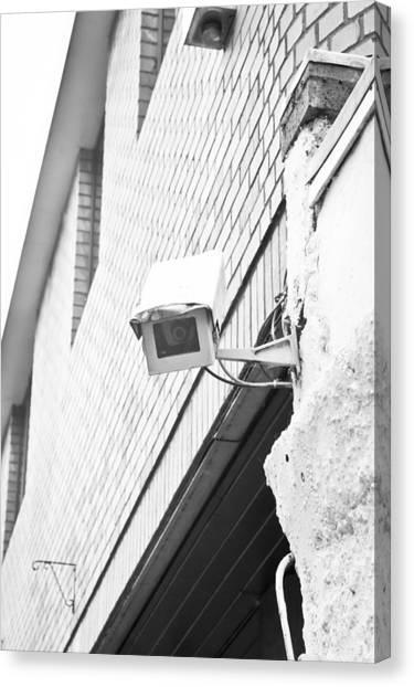 Big Brother Canvas Print - Security Camera by Tom Gowanlock