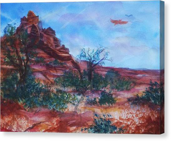 Sedona Red Rocks - Impression Of Bell Rock Canvas Print