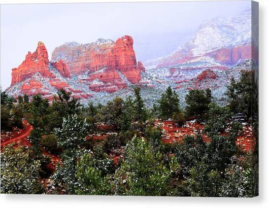 Sedona Snow Canvas Print