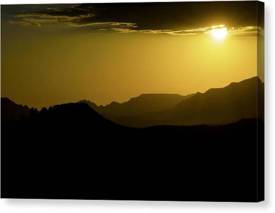 Sedona Sunset Canvas Print by Christian Capucci