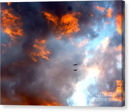 Sedona Sunset Ravens Canvas Print