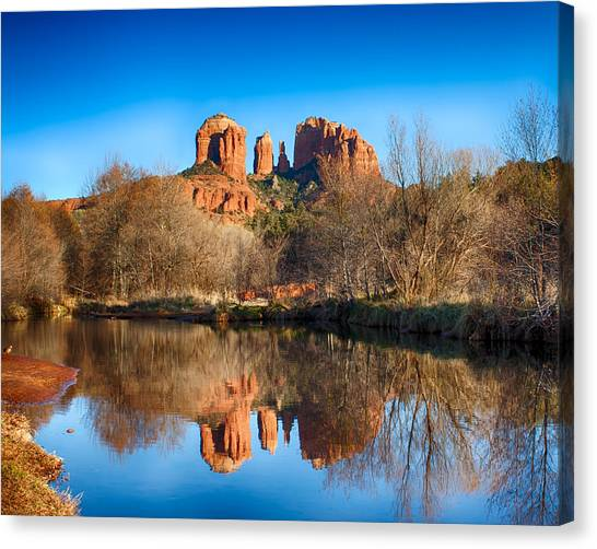 Sedona Winter Reflections Canvas Print