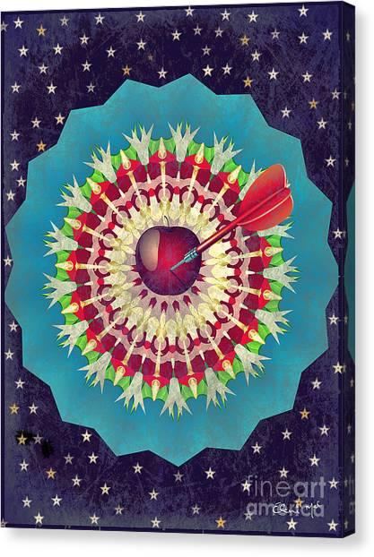 Canvas Print featuring the digital art Seduction  by Eleni Mac Synodinos
