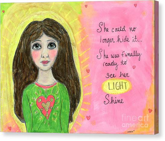 See Her Light Shine Canvas Print