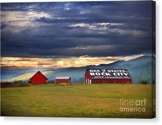Tn Canvas Print - See Rock City by T Lowry Wilson