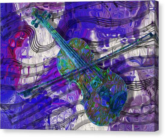 Stringed Instruments Canvas Print - See The Sound 3 by Jack Zulli