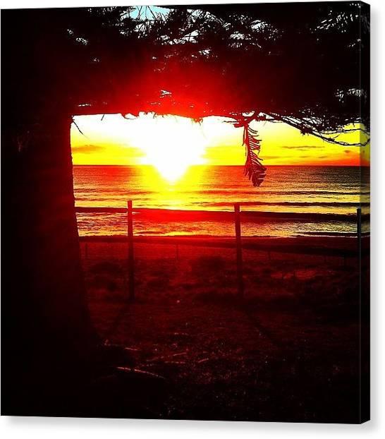 Ocean Sunrises Canvas Print - Morning Fire by Nic Westaway
