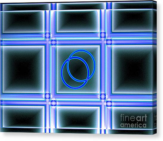 Canvas Print featuring the digital art Seeing Double by Dee Flouton