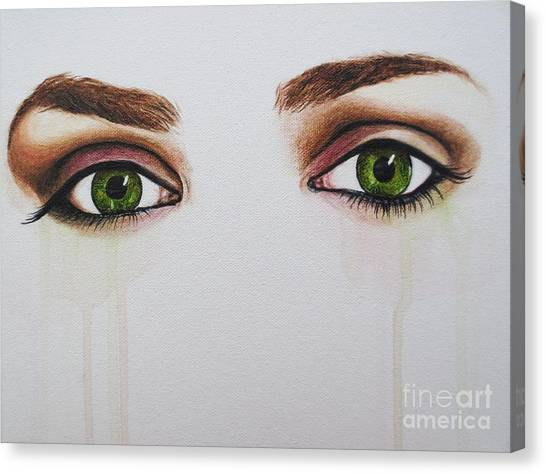 Seeing Into The Soul Serious Canvas Print