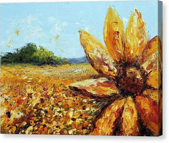 Seeing The Sun Canvas Print