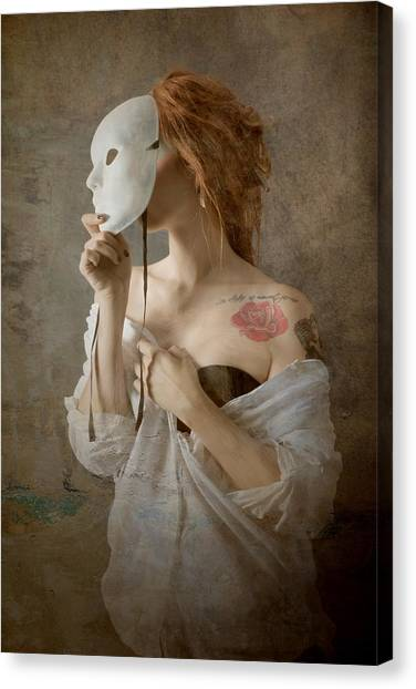 Tattoo Canvas Print - Seeing Through The Mask by Olga Mest