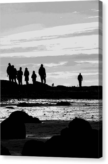 Seeker Silhouette Canvas Print