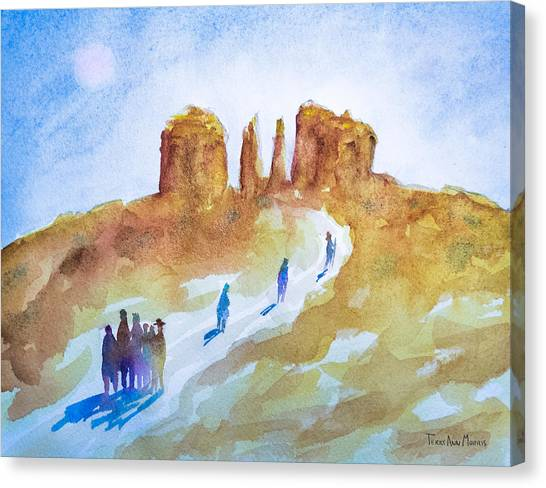 Seekers At Cathedral Rock Canvas Print