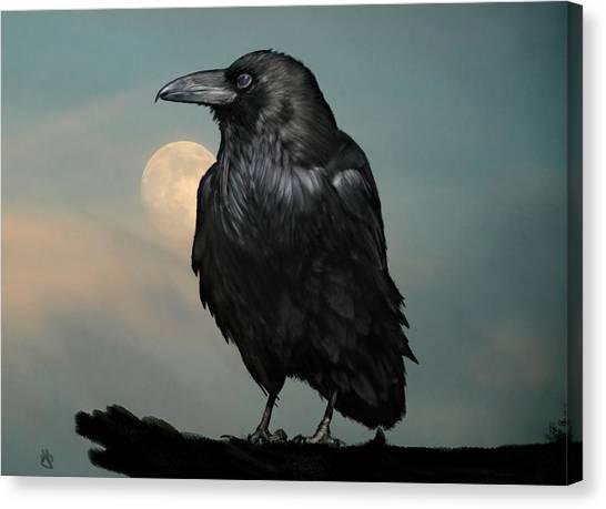 Seeking Poe Canvas Print by Hazel Billingsley