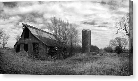 Seen Better Days Black And White Canvas Print