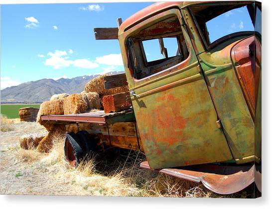 Seen Better Days Truck Canvas Print