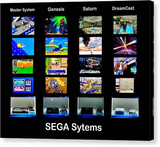 Sega Genesis Canvas Print - Sega Systems by Benjamin Yeager