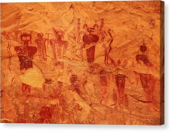 Sego Canyon Rock Art Canvas Print