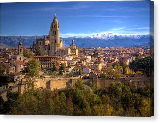 Segovia From The Alcazar Canvas Print