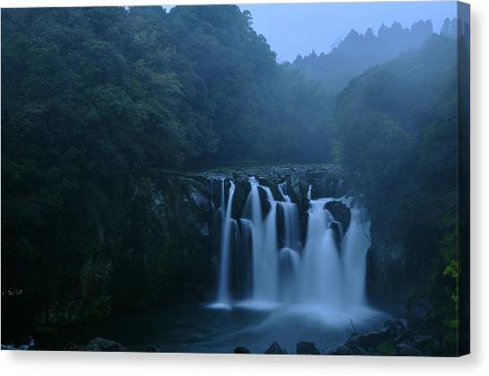Foggy Forests Canvas Print - Sekino-otaki by Aaron Bedell