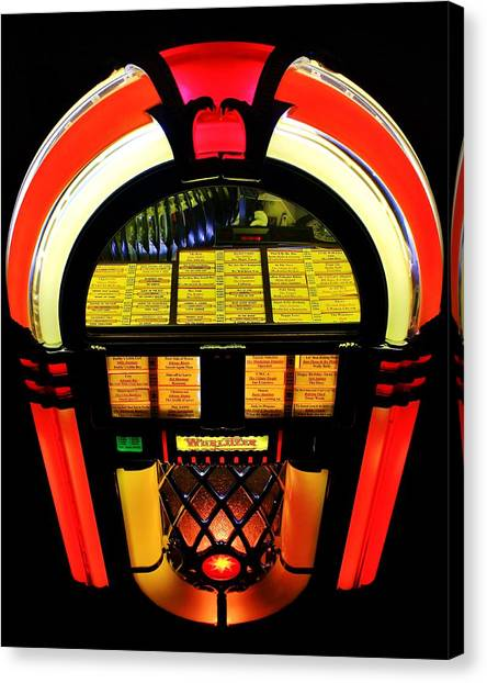 Jukebox Canvas Print - Selections by Benjamin Yeager