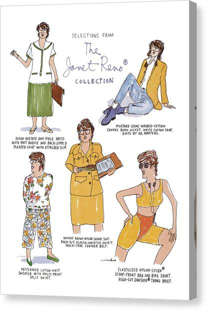 Fashion Plate Canvas Print - Selections From The Janet Reno Collection by Michael Crawford